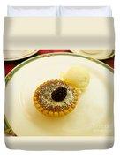 Butter Tart With Ice Cream Duvet Cover