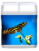 Butterflies And Blue Skies Duvet Cover