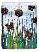 Butterflies And Flowers Duvet Cover