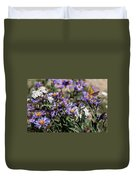 Butterflies And Wildflowers Duvet Cover