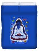 Butterflies Dream Of Buddha Duvet Cover