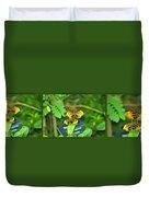 Butterflies Gentle Courtship  3 Panel Composite Duvet Cover