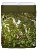 Butterflies In Golden Garden Duvet Cover