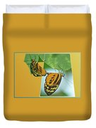 Butterflies Mating Out Of Bounds Duvet Cover