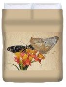 Butterflies Snd Flowers Duvet Cover