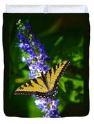 Butterflly Bush And The Swallowtail Duvet Cover