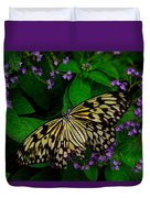 Butterfly - Yellow Green Purple Duvet Cover