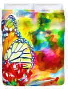 Butterfly Abstracted Duvet Cover