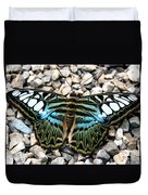 Butterfly Amongst Stones Duvet Cover