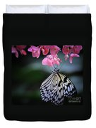 Butterfly And Blossoms Duvet Cover