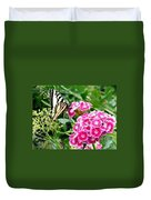 Butterfly And Sweet Williams Duvet Cover