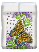 Butterfly And Thistles Duvet Cover