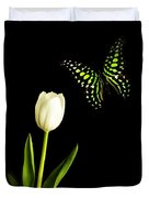 Butterfly And Tulip Duvet Cover