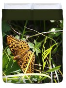 Butterfly At Signal Mountain Duvet Cover