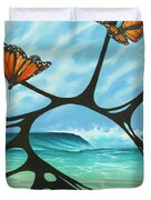 Butterfly Beach Duvet Cover