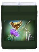 Butterfly Beauty And Little Friend Duvet Cover