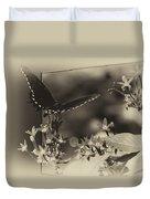 Butterfly Black 06 In Heirloom Finish Duvet Cover