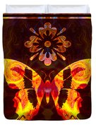 Butterfly By Design Abstract Symbols Artwork Duvet Cover