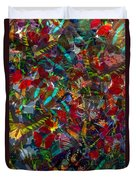 Butterfly Collage Red Duvet Cover