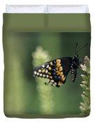 Butterfly E. Black Swallowtail Duvet Cover
