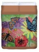 Butterfly Garden Duvet Cover