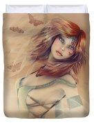 Butterfly Girl Duvet Cover