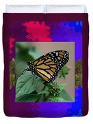 Butterfly Gold Photograph Insect Taken At Costa Rica Travel Vacation Unique Digital Painted Border B Duvet Cover