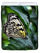 Butterfly - Green Leaf Duvet Cover