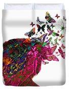 Butterfly Hair Duvet Cover