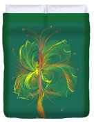 Butterfly In Green Duvet Cover