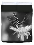 Butterfly In Motion #1952bw Duvet Cover