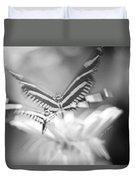 Butterfly In Motion #1961bw Duvet Cover