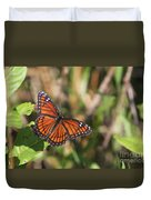 Butterfly In The Everglades Duvet Cover