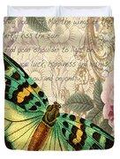 Butterfly Kisses-b Duvet Cover