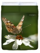 Butterfly Macro Photography Duvet Cover by Stwayne Keubrick