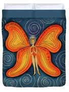 Butterfly Mantra Duvet Cover