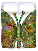 Butterfly Meadow Green Duvet Cover