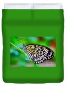 Butterfly On A Leaf Duvet Cover