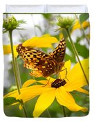 Butterfly On Blackeyed Susan Duvet Cover