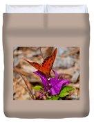 Butterfly On Bouganvilla Duvet Cover