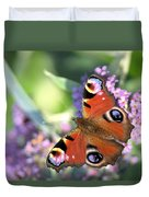 Butterfly On Buddleia Duvet Cover