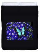 Butterfly On Cineraria Duvet Cover