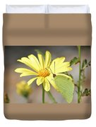 Butterfly On Daisy Duvet Cover