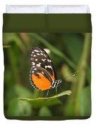 Butterfly On Leaf Duvet Cover