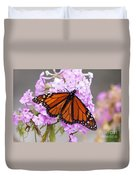 Butterfly On Pink Phlox Duvet Cover
