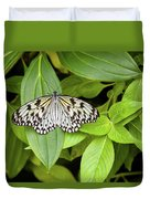Butterfly Perching On Leaf In A Garden Duvet Cover