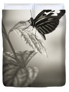 Butterfly Warm Black And White Duvet Cover