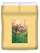 Butterfly Wildflower Duvet Cover