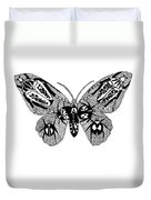 Butterfly With Design Duvet Cover