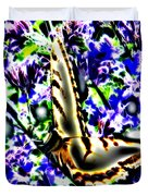 Butterfly With Purple Flowers 4 Duvet Cover